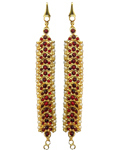 Temple Jewelry Ear Chain Set With Kemp & Pearls