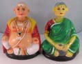 Navaratri Chettiyar Chettichi 2 Pcs Set with Vibhuti Pattai