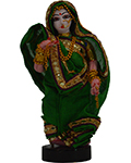 Navaratri Golu Dolls Lady With Flower (Green)