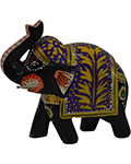 Wood Decor Elephant Multi Color