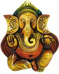 Ganesh Sitting Wall Hanging Panel