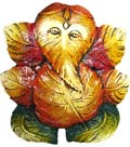 Ganesh Leaf Wall Hanging Panel