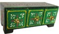 Wood Decor Chest with 3 Ceramic Drawer