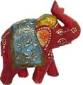 Multicolor Painted Elephant - Maroon