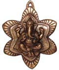 CopperGanesh Flower Wall Hanging Antique Copper Co