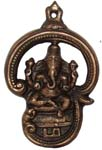 Copper Ganesh Om Wall Hanging Antique Copper Color