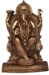 Ganesh Wall Hanging Antique Copper Color