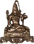 Shiva Wall Hanging Antique Copper Color