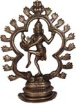 Nataraj Wall Hanging Antique Copper Color