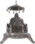 Silvery Simhasan Antique Finish
