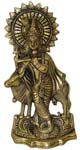 Silvery Cow Krishna Golden Antique Finish