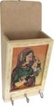 Rich Ochre Letter and Key Holder - Lady with Dove