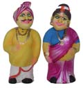 Standing Couple Dancing Head Doll Set