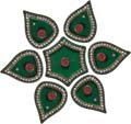 Lucent Rangoli Blocks Cone 7 pieces set Green