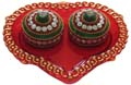 Kumkum Box Heart - Red
