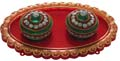 Kumkum Box Oval - Red