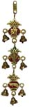 Silvery Hanging Kalash Ganesh 3 Step bell Gold Fin