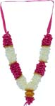 Deity Fancy Satin Mala - Pink White