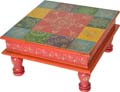 Wood Decor Wooden Painted Stool