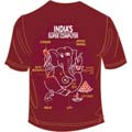 Super Computer Maroon 8 to 10 Years T Shirt