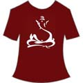 Sitting Ganesha Maroon Small T Shirt